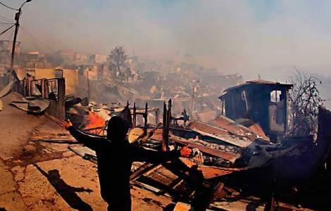 incendi nella parte centrale e meridionale del Cile