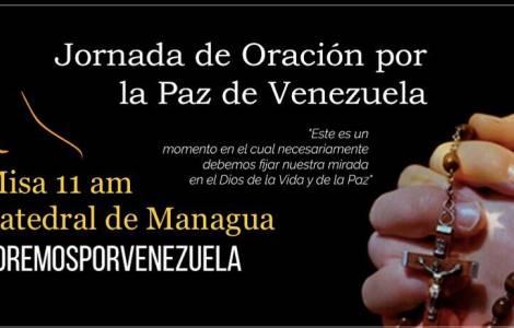 A Igreja na Nicarágua reza solidária pela Venezuel