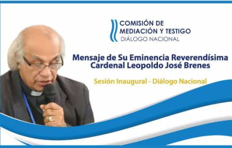 """Primer Día del Diálogo Nacional: """"La Iglesia es pu"""
